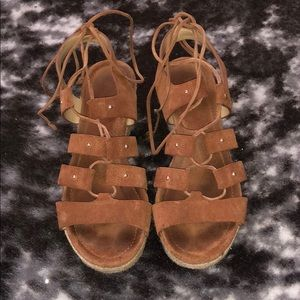 Michael Korea's Brown Platform Lace-Ups